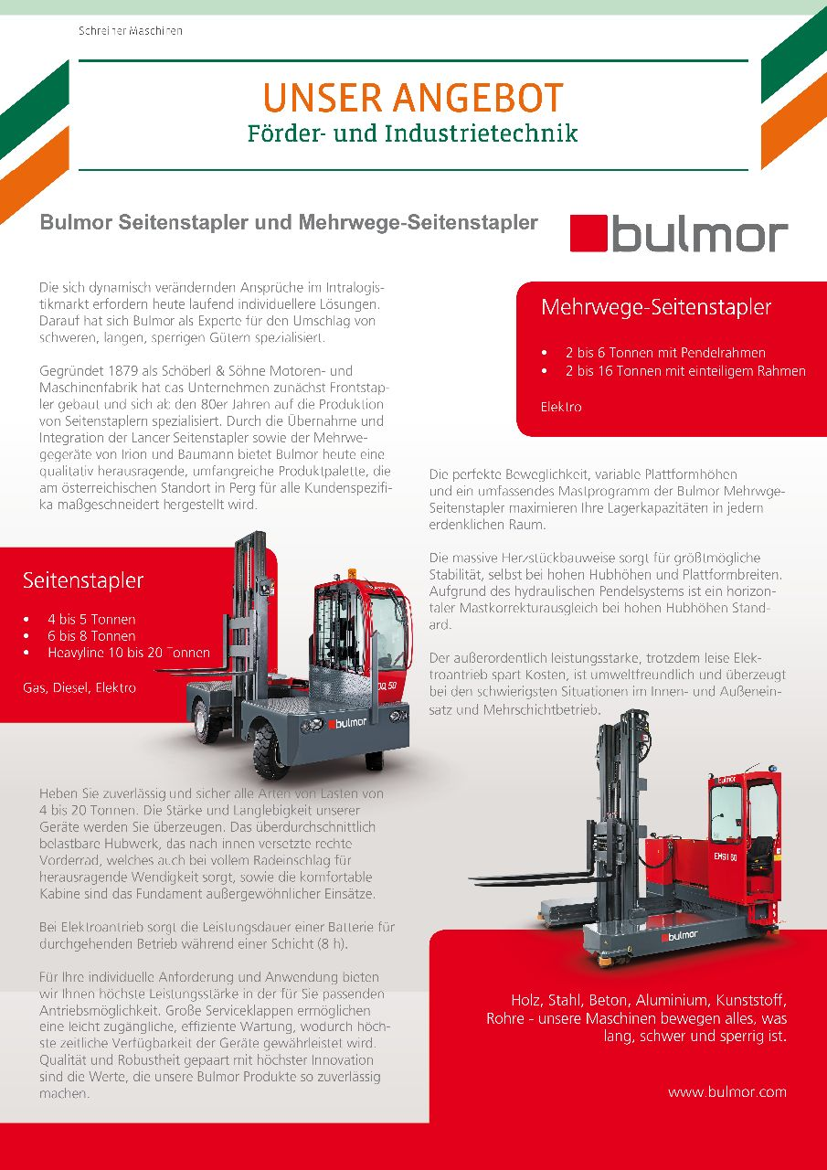 Bulmor_Produktübersicht - Beschreibung