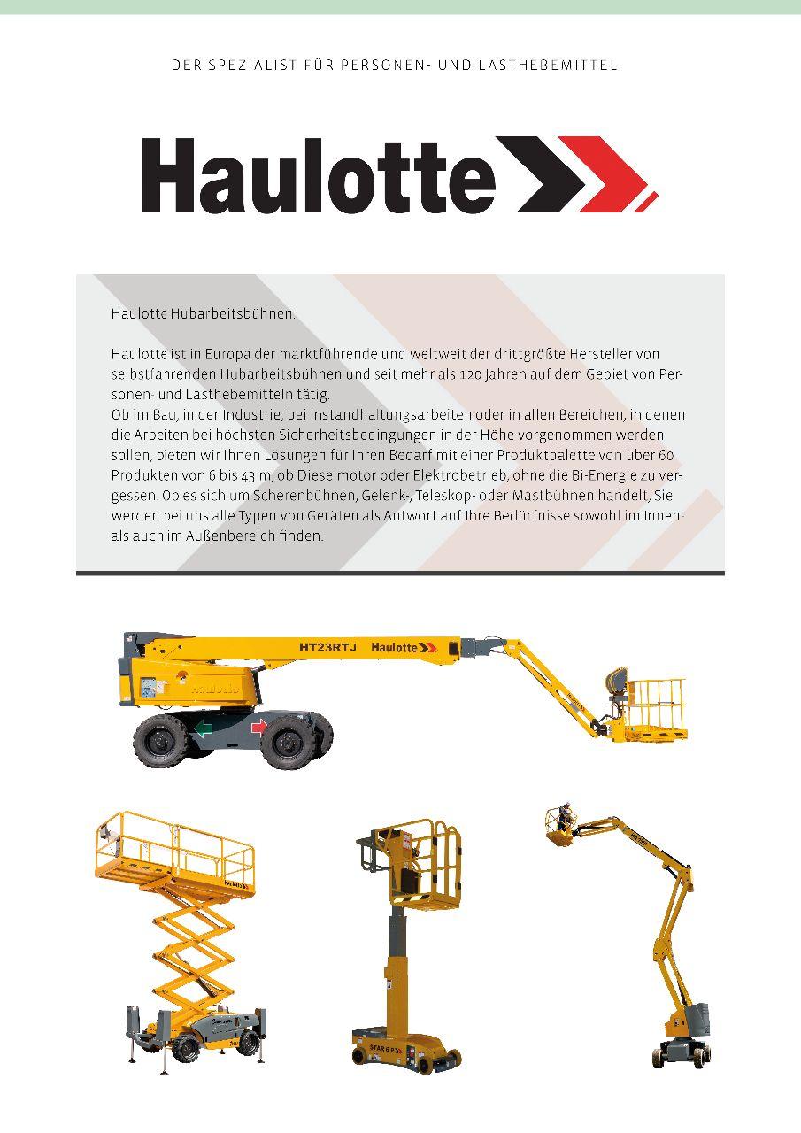 Haulotte_Produktübersicht - Beschreibung