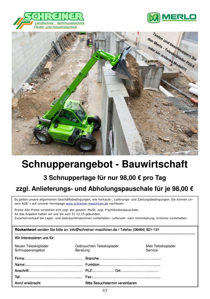 Merlo Schnupperangebot